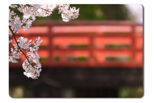 Mouse Pad Japan Cherry Blossoms Flowers Spring Season - 21.5 x 27 x 0.3cm