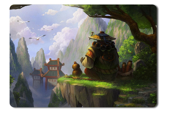 Mouse Pad Kart Pandaria World Of Warcraft Warcraft Mists Pandaren - 21.5 x 27 x 0.3cm