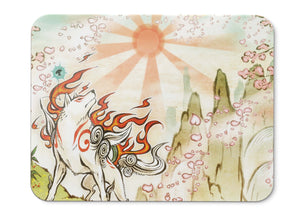 Mouse Pad Okami Hd Action Adventure Ps Wii - 21.5 X 27 X 0.3cm