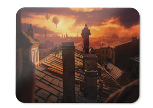 Mouse Pad On The Roof Sunset Hot Air Balloons Hd - 21.5 X 27 X 0.3cm