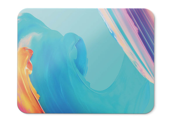 Mouse Pad Paint Colorful Waves Oneplus T Stock Hd - 21.5 X 27 X 0.3cm