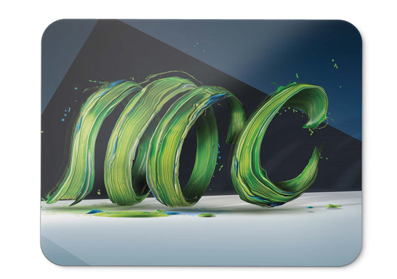 Mouse Pad Paint Digital Art Green Hd  - 21.5 X 27 X 0.3cm