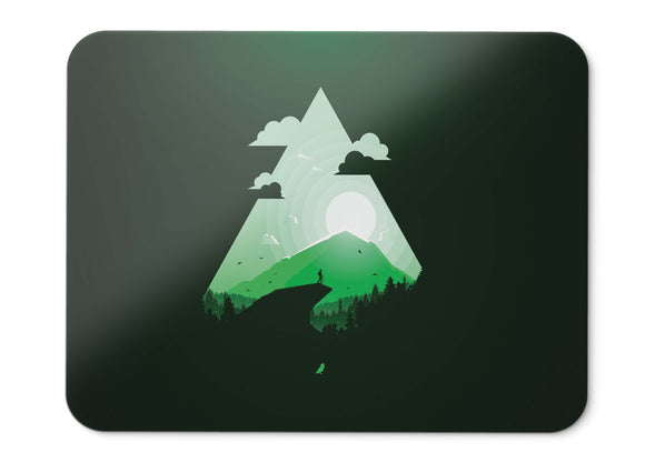 Mouse Pad Paradise Green Journey Sunset - 21.5 X 27 X 0.3cm
