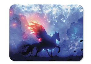 Mouse Pad Pegasus Guardian Space Stars  - 21.5 X 27 X 0.3cm