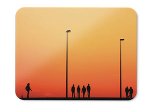 Mouse Pad People Dusk Silhouette Street Lights Hd  - 21.5 X 27 X 0.3cm