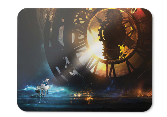 Mouse Pad Piano Steampunk Clock Kid Hd  - 21.5 X 27 X 0.3cm