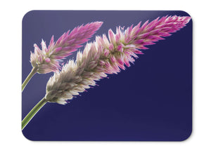 Mouse Pad Pink Flowers Bloom Blue - 21.5 X 27 X 0.3cm
