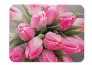 Mouse Pad Pink Tulips Hd - 21.5 X 27 X 0.3cm