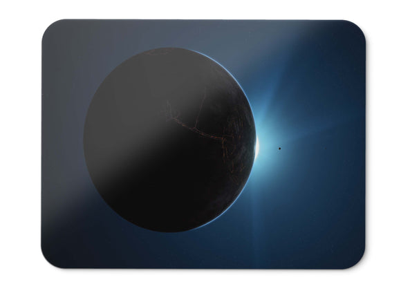 Mouse Pad Planet Darkside Sun Hd  - 21.5 X 27 X 0.3cm
