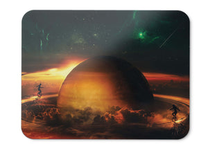 Mouse Pad Planet Rings Playing Nebula - 21.5 X 27 X 0.3cm