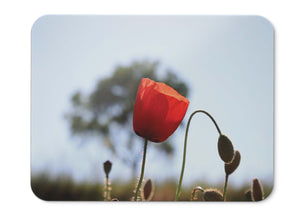 Mouse Pad Poppy Flowering Plant  - 21.5 X 27 X 0.3cm