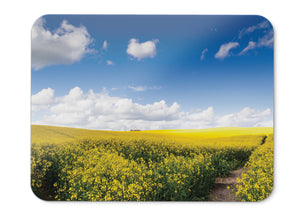Mouse Pad Rapeseed Fields Sunny Day Summer Landscape Hd  - 21.5 X 27 X 0.3cm