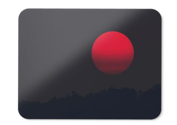 Mouse Pad Red Moon Full Moon Sunset - 21.5 X 27 X 0.3cm