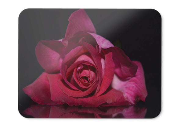 Mouse Pad Red Rose Petals Dark Background Hd  - 21.5 X 27 X 0.3cm