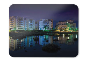 Mouse Pad Reflections Night Buildings - 21.5 X 27 X 0.3cm