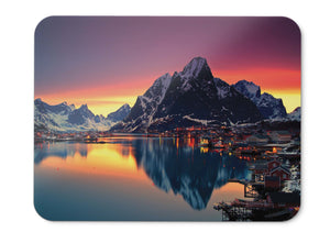 Mouse Pad Reine Lake Mountains Norway - 21.5 X 27 X 0.3cm
