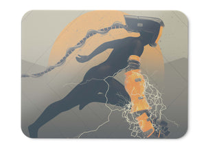 Mouse Pad Robotic Woman Illustration Hd  - 21.5 X 27 X 0.3cm