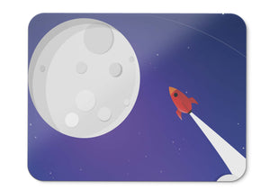Mouse Pad Rocket Moon Hd - 21.5 X 27 X 0.3cm