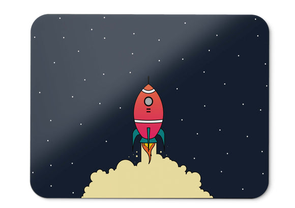 Mouse Pad Rocket Space Hd  - 21.5 X 27 X 0.3cm