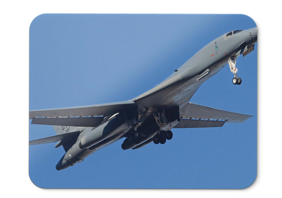 Mouse Pad Rockwell B  Lancer Heavy Bomber Supersonic Us Air Force  - 21.5 X 27 X 0.3cm