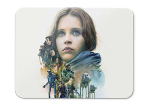 Mouse Pad Rogue One Forest Whitaker Wen Jiang Felicity Jones Diego  001 - 21.5 X 27 X 0.3cm