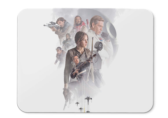 Mouse Pad Rogue One Forest Whitaker Wen Jiang Felicity Jones Diego  002 - 21.5 X 27 X 0.3cm