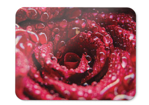 Mouse Pad Rose Flower Macro Droplets - 21.5 X 27 X 0.3cm