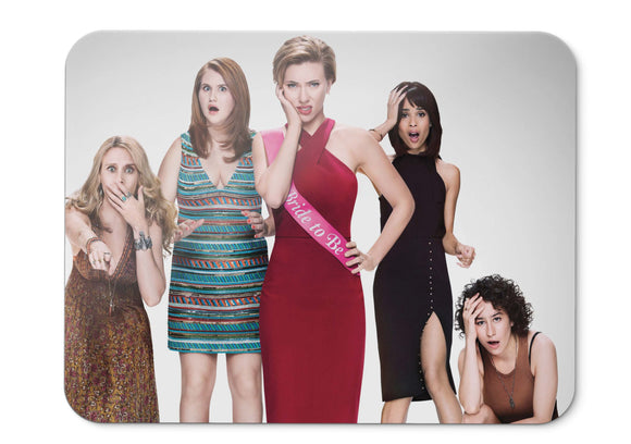 Mouse Pad Rough Night Scarlett Johansson Kate Mckinnon Zo Kravitz  - 21.5 X 27 X 0.3cm