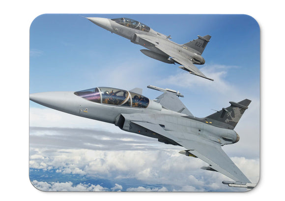 Mouse Pad Saab Jas  Gripen Fighter Aircraft Swedish Air Force - 21.5 X 27 X 0.3cm