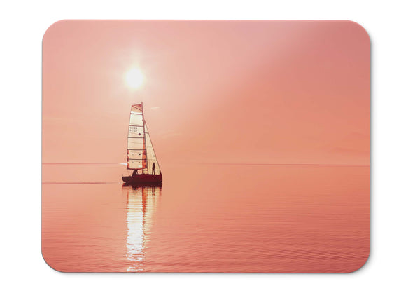Mouse Pad Sailboat Ocean Sunset - 21.5 X 27 X 0.3cm