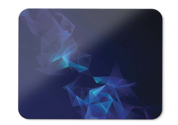 Mouse Pad Samsung Galaxy S Blue Low Poly Smoke Stock Hd  - 21.5 X 27 X 0.3cm