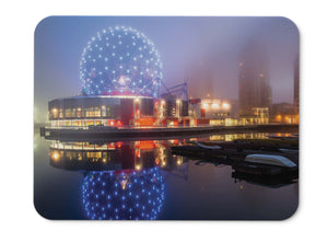 Mouse Pad Science World Cityscape Chinatown Vancouver British  - 21.5 X 27 X 0.3cm