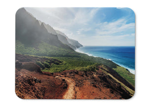 Mouse Pad Sea Shore Sunny Day Mountains Hd  - 21.5 X 27 X 0.3cm