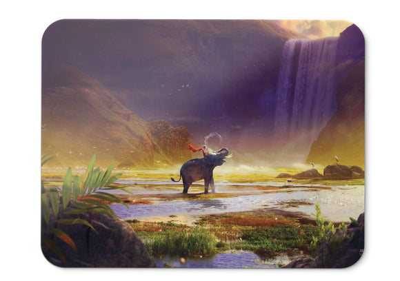 Mouse Pad Shambhala Waterfall Mythical Hd  - 21.5 X 27 X 0.3cm