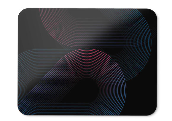 Mouse Pad Shapes Neon Dark Black Gome U Stock Hd  - 21.5 X 27 X 0.3cm