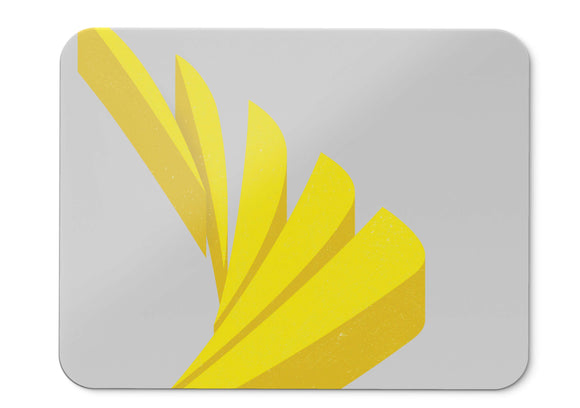 Mouse Pad Shapes Yellow Minimal Hd  - 21.5 X 27 X 0.3cm