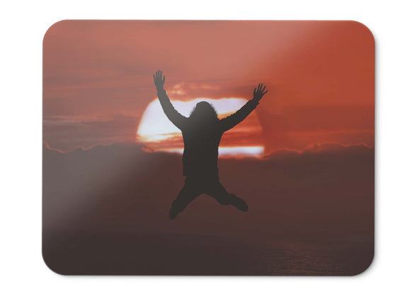 Mouse Pad Silhouette Sunset Happy Mood  - 21.5 X 27 X 0.3cm