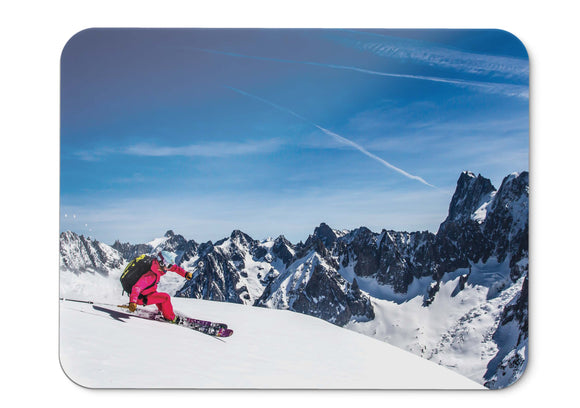 Mouse Pad Skiing Snow Mountains - 21.5 X 27 X 0.3cm