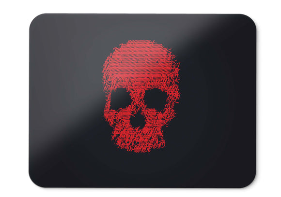 Mouse Pad Skull Glitch Art Dark Red - 21.5 X 27 X 0.3cm
