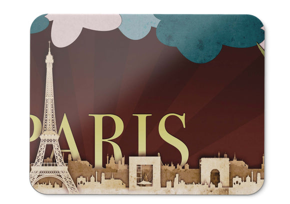 Mouse Pad Skyline Paris Hd  - 21.5 X 27 X 0.3cm