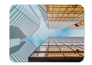 Mouse Pad Skyscrapers Glass Buildings Hd - 21.5 X 27 X 0.3cm