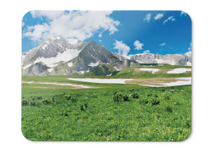 Mouse Pad Snow Mountains Green Landscape Scenery - 21.5 X 27 X 0.3cm