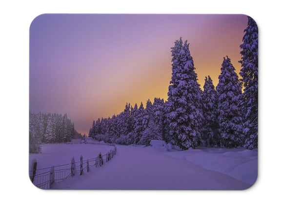 Mouse Pad Snowy Lights Winter  - 21.5 X 27 X 0.3cm