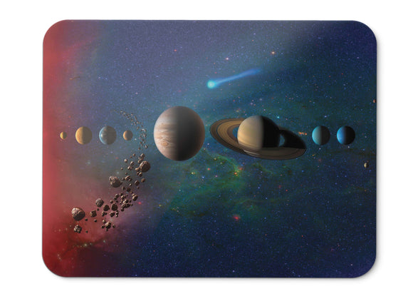 Mouse Pad Solar System Planets Orbit Sun Trappist  Hd - 21.5 X 27 X 0.3cm