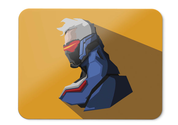 Mouse Pad Soldier  Overwatch Minimal 001 - 21.5 X 27 X 0.3cm