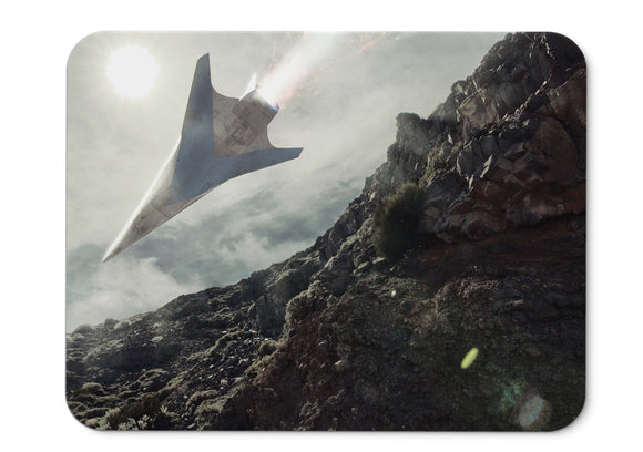 Mouse Pad Space Plane Fighter Sci Fi Hd  - 21.5 X 27 X 0.3cm