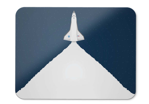 Mouse Pad Space Shuttle Spacecraft Launch Minimal Hd  - 21.5 X 27 X 0.3cm