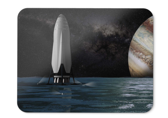 Mouse Pad Spaceship Europa Jupiter Moon Spacex Interplanetary  - 21.5 X 27 X 0.3cm