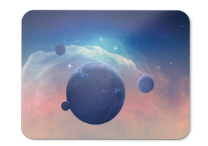 Mouse Pad Spaceships Planets - 21.5 X 27 X 0.3cm
