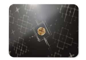 Mouse Pad Sphere Crystal Chain Black D Hd  - 21.5 X 27 X 0.3cm